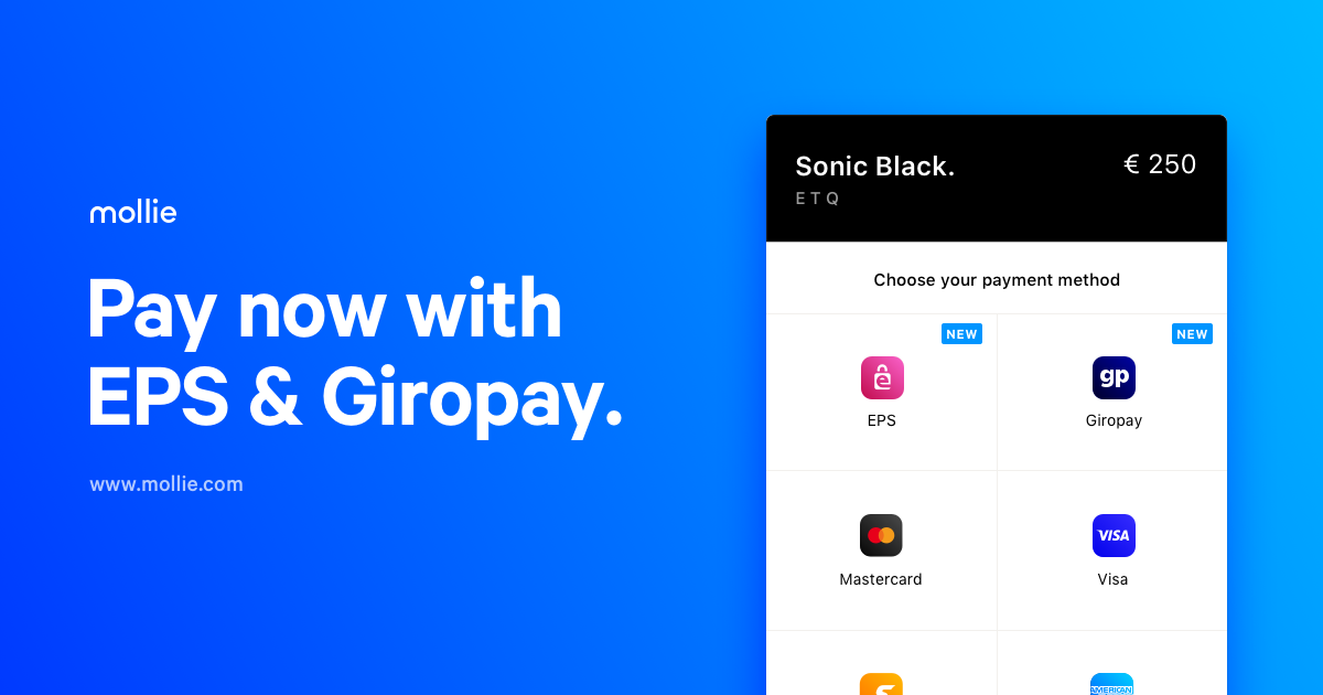 Introducing two new payment methods: EPS and Giropay