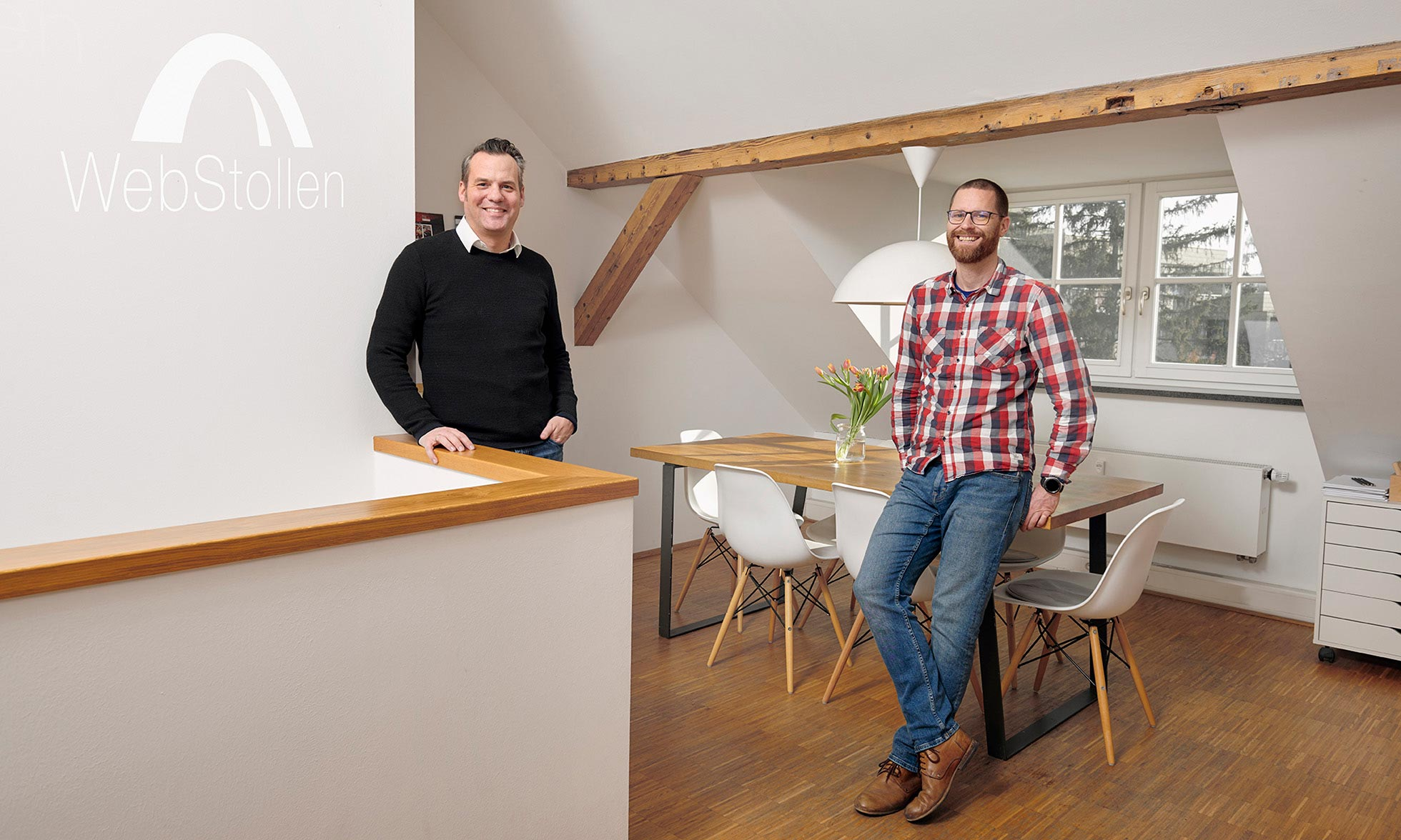 Florian Barbian and Michael Stepanek, founders of WebStollen