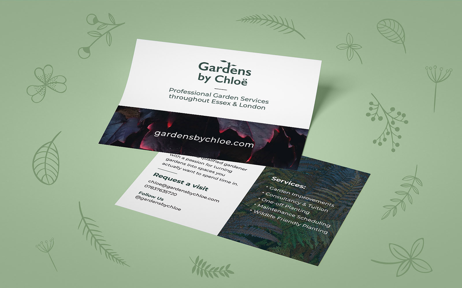 Flyers designed and printed for Gardens by Chloë