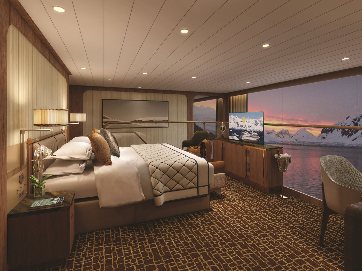 Seabourn expedition ships - Wintergarden Suite (Bedroom)