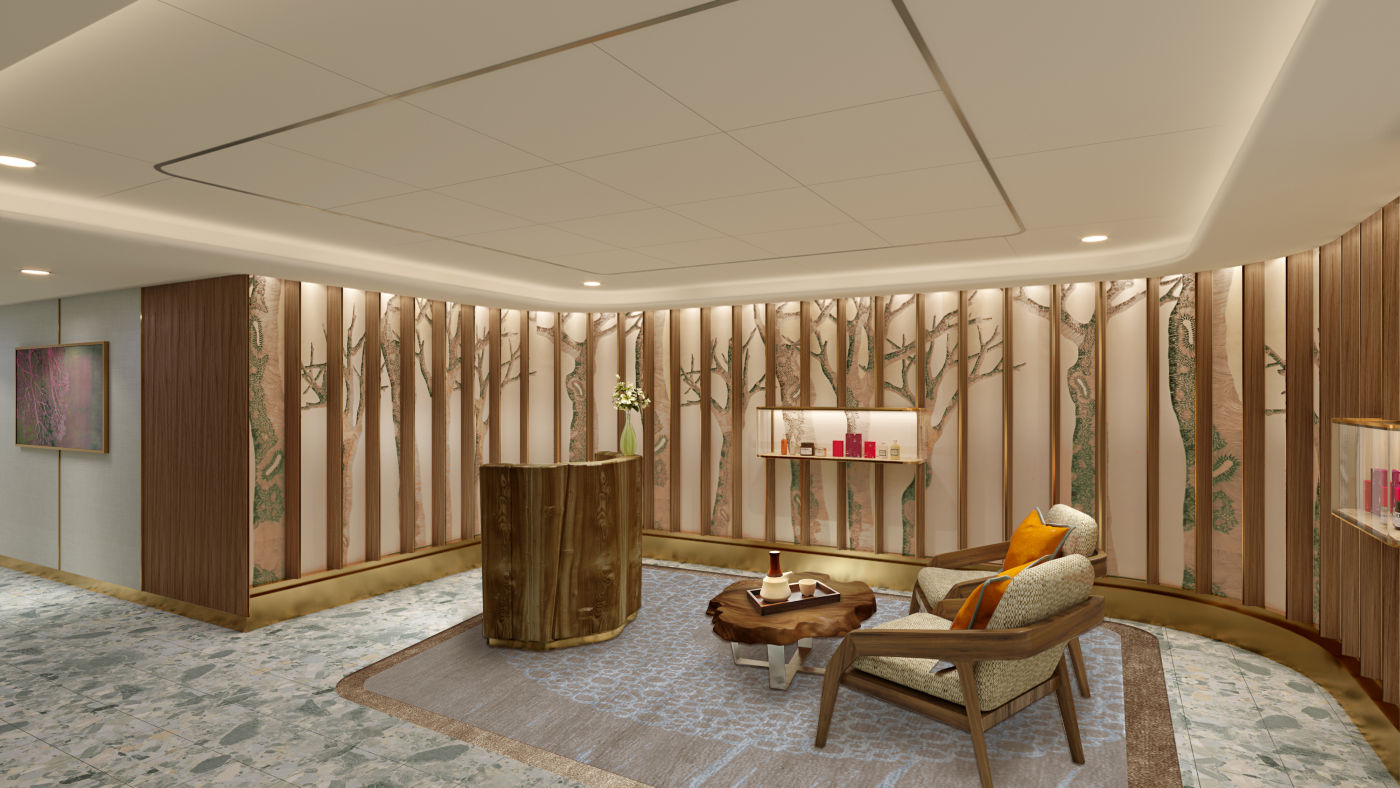 Seabourn expedition ships - Spa Reception rendering