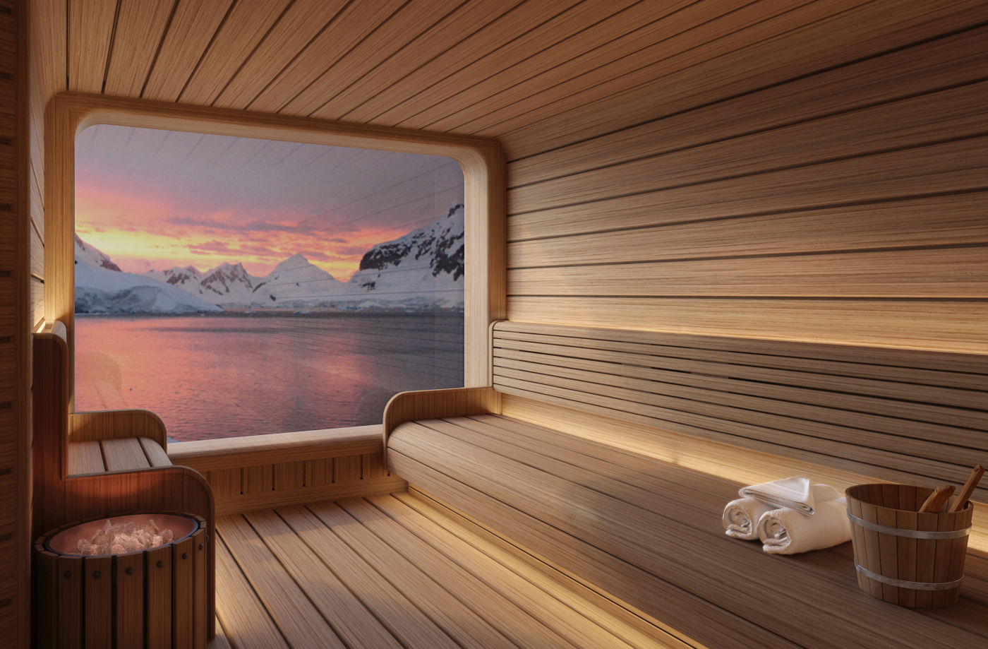 Seabourn expedition ships - Spa Sauna Rendering