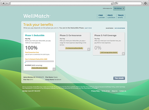 Benefits tracking with WellMatch