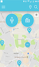 Fortem's Refer IT mobile app maps screen