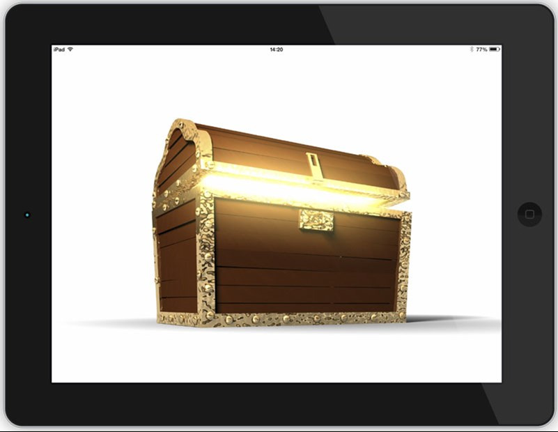 Treasure chest on iPad
