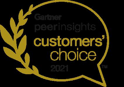 Gartner PeerInsights Customers' Choice 2021 Badge
