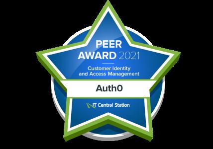 Peer Award 2021 Auth0 Badge