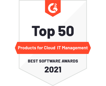 G2 Top 50 Products for Cloud IT Management Best Software Awards 2021 Badge