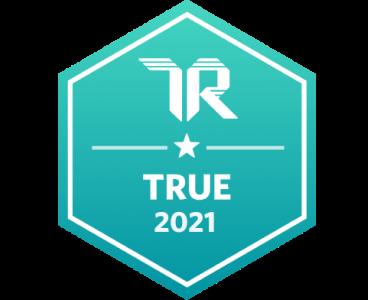 TrustRadius TRUE 2021 Badge
