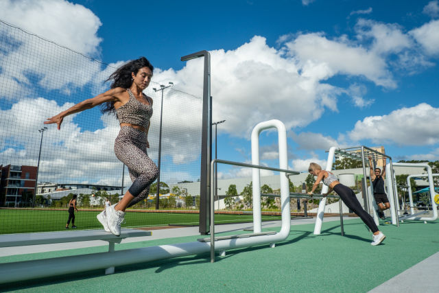 There's also a multi-purpose synthetic playing field with outdoor gym equipment