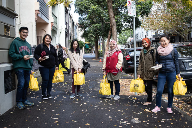 More than 1,250 hampers of pantry staples and 1,000 pre-cooked meals were provided thanks to OzHarvest and the City of Sydney