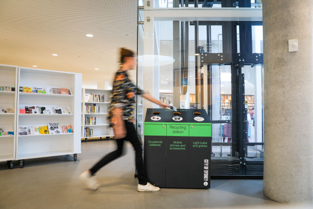 Recycle mobile phones, batteries and light bulbs at libraries and customer service centres