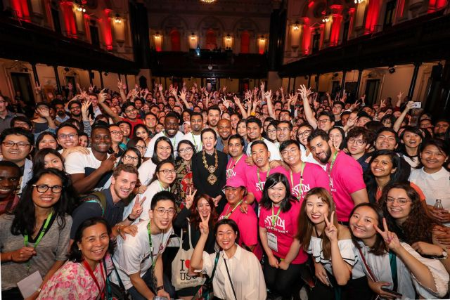 International student welcome at Sydney Town Hall