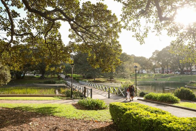 Strolling in Victoria Park