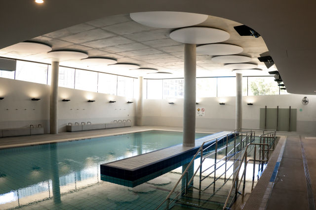 The pools, including the indoor hydrotherapy pool have wheelchair ramps and hoist for entry