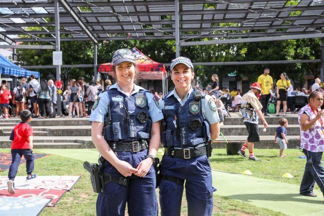 Police officers visit Redfern Community Centre