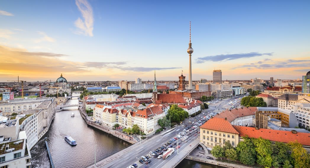 View over Germany's capital city, Berlin