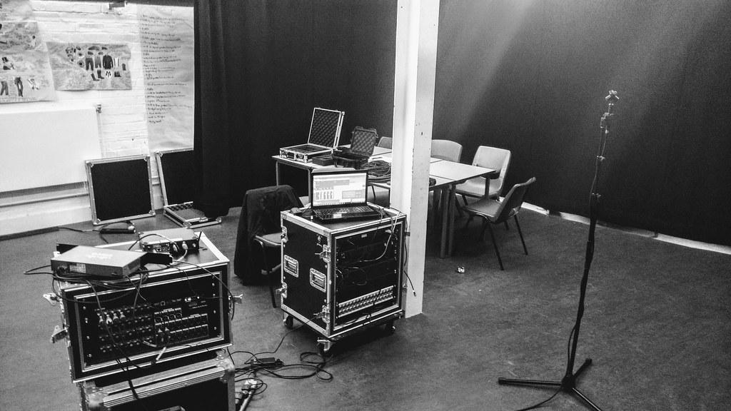 Our BTS photo of the Pavlov setup