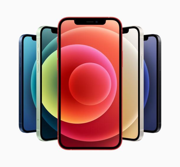 Farbvarianten des iPhone 12.