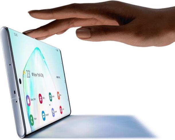 DasSamsung Galaxy Note 10+ mit beeindruckendem Display.