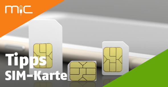 SIM-Karten in verschiedenen Größen