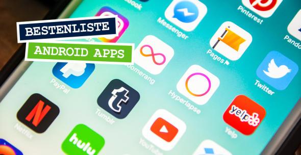 Eine Smartphone-Oberfläche mit diversen Apps.