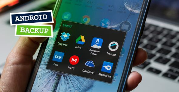 Eine Smartphone, auf dem sich diverse Apps con Cloud-Diensten befinden.