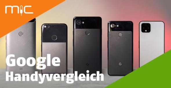 Mehrere Google-Handys in einer Reihe