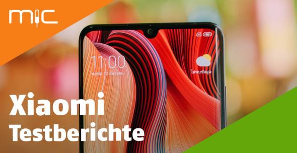 Die Vorderansicht eines Xiaomi-Handys.