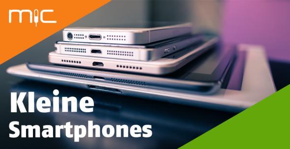 Ein Stapel mit kleinen Smartphones bis großen Tablets.