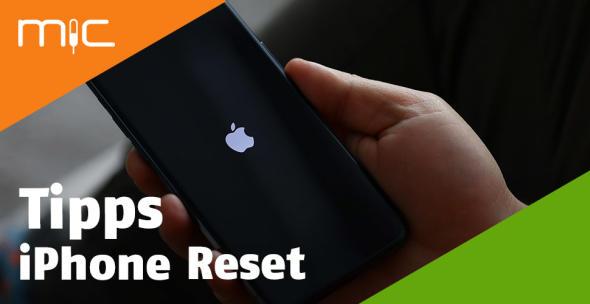 Ein iPhone während dem Neustart