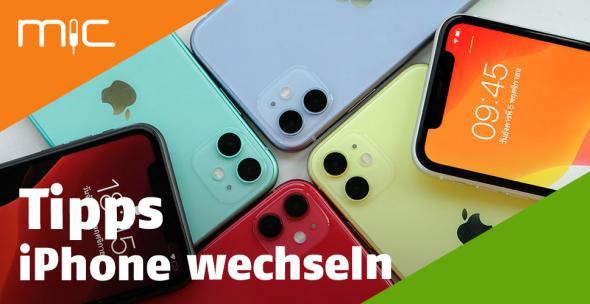 Mehrere iPhones über- und nebeneinander