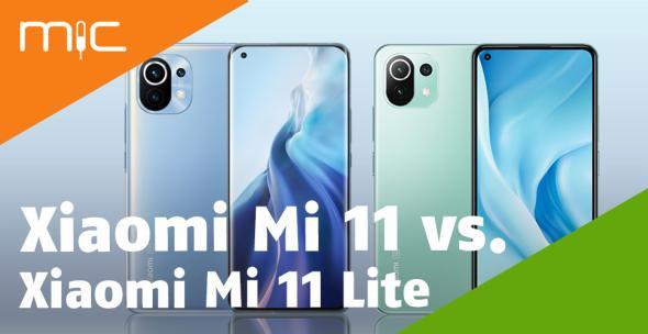 Vorder- und Rückseite Xiaomi Mi 11 und Xiaomi Mi 11 Lite