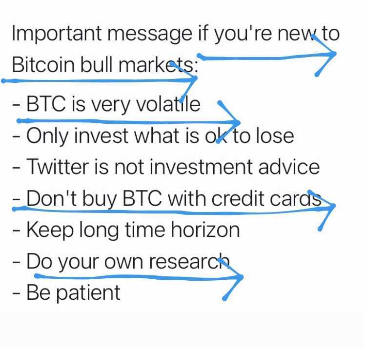 if you're new to bitcoin bull markets...