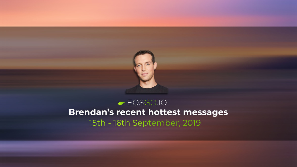 Brendan's recent hottest messages, 15th - 16th September
