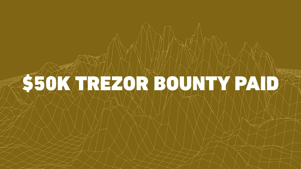 Cypherglass paid the $50,000 bounty to implement EOS on the Trezor