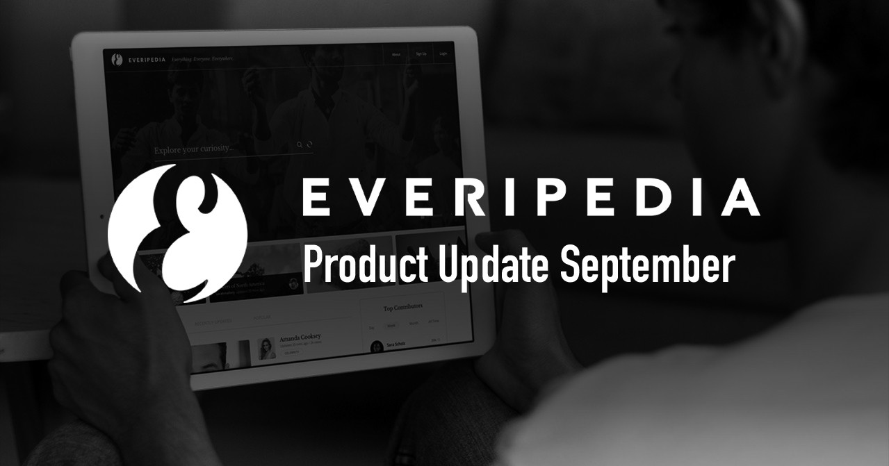 Everipedia September Product Updates