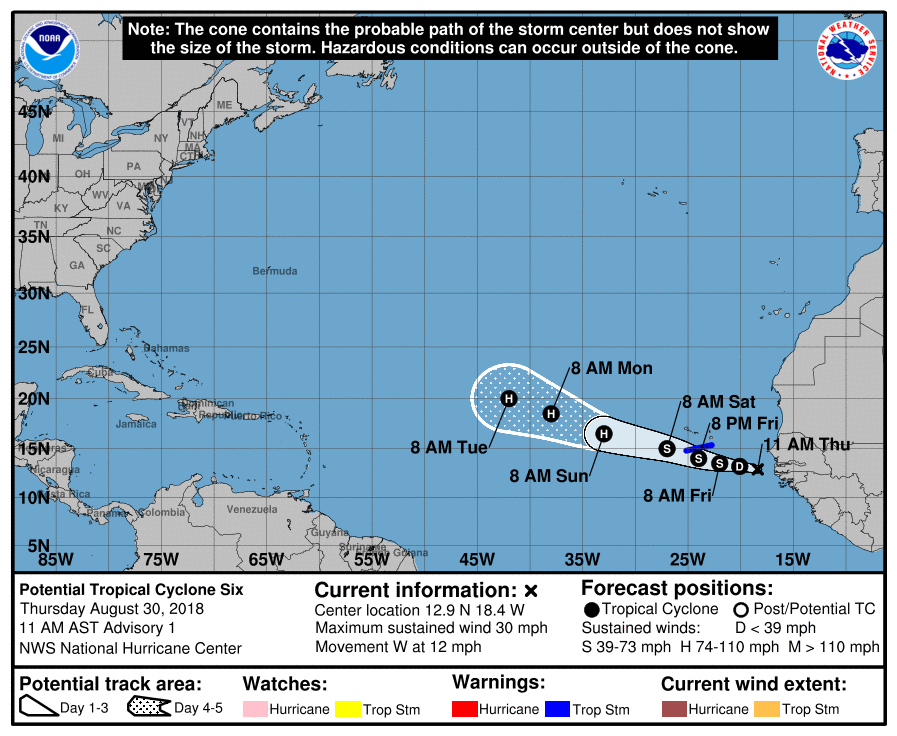 Storm Gordon likely to become hurricane upon landfall tonight - NHC
