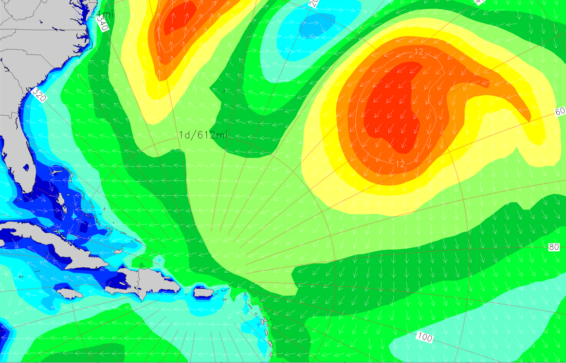 Caribbean Set to Fire, NE Swell in the Water and on the Way
