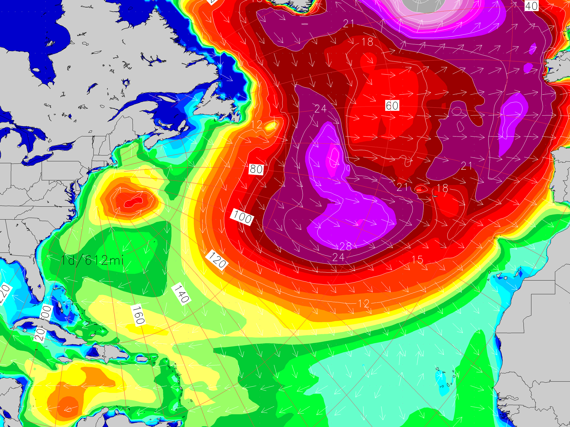 East Coast Outlook: North Atlantic is Purple but Where's Our Surf?