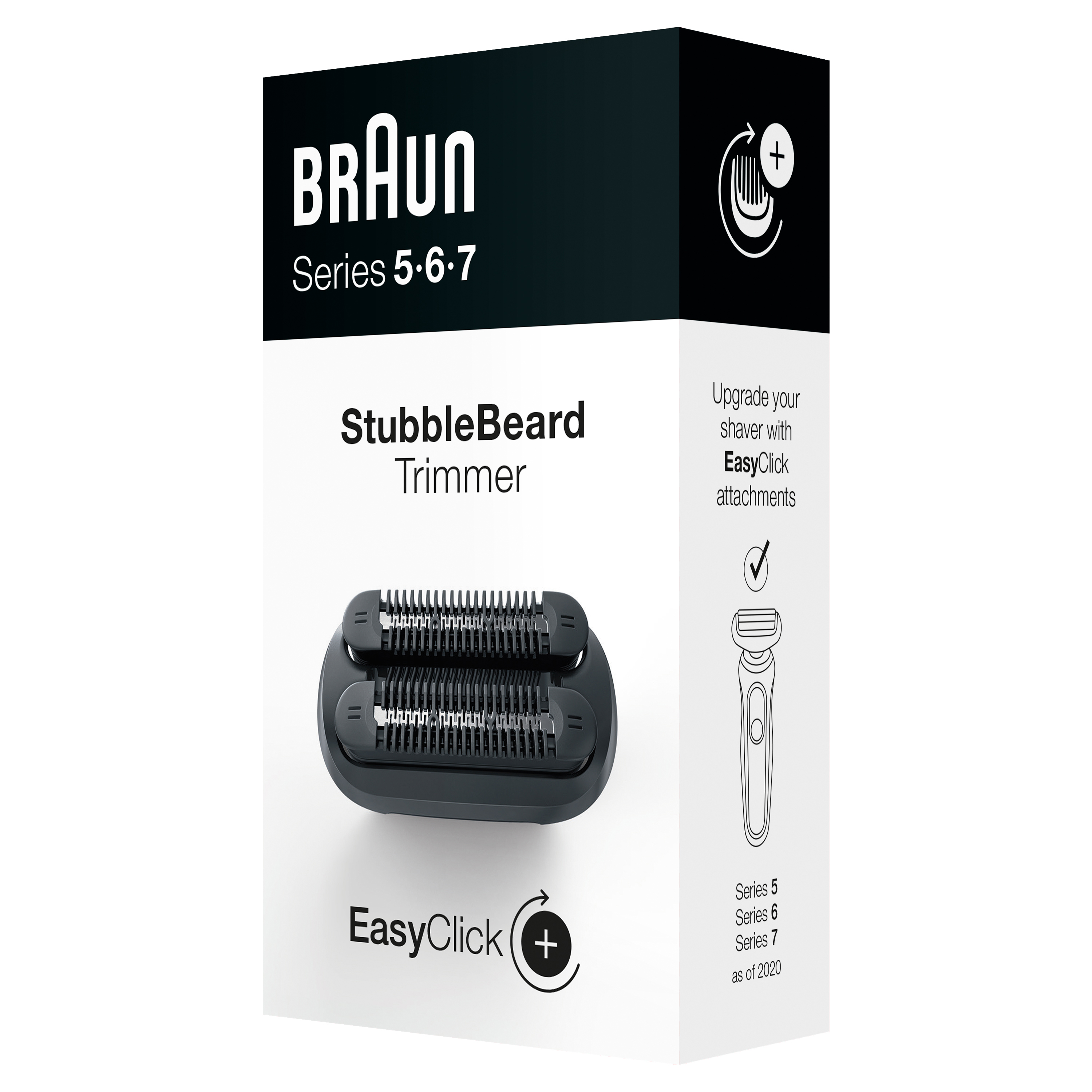 EasyClick Stubble Beard Trimmer attachment for Braun Series 5, 6 and 7 electric shaver