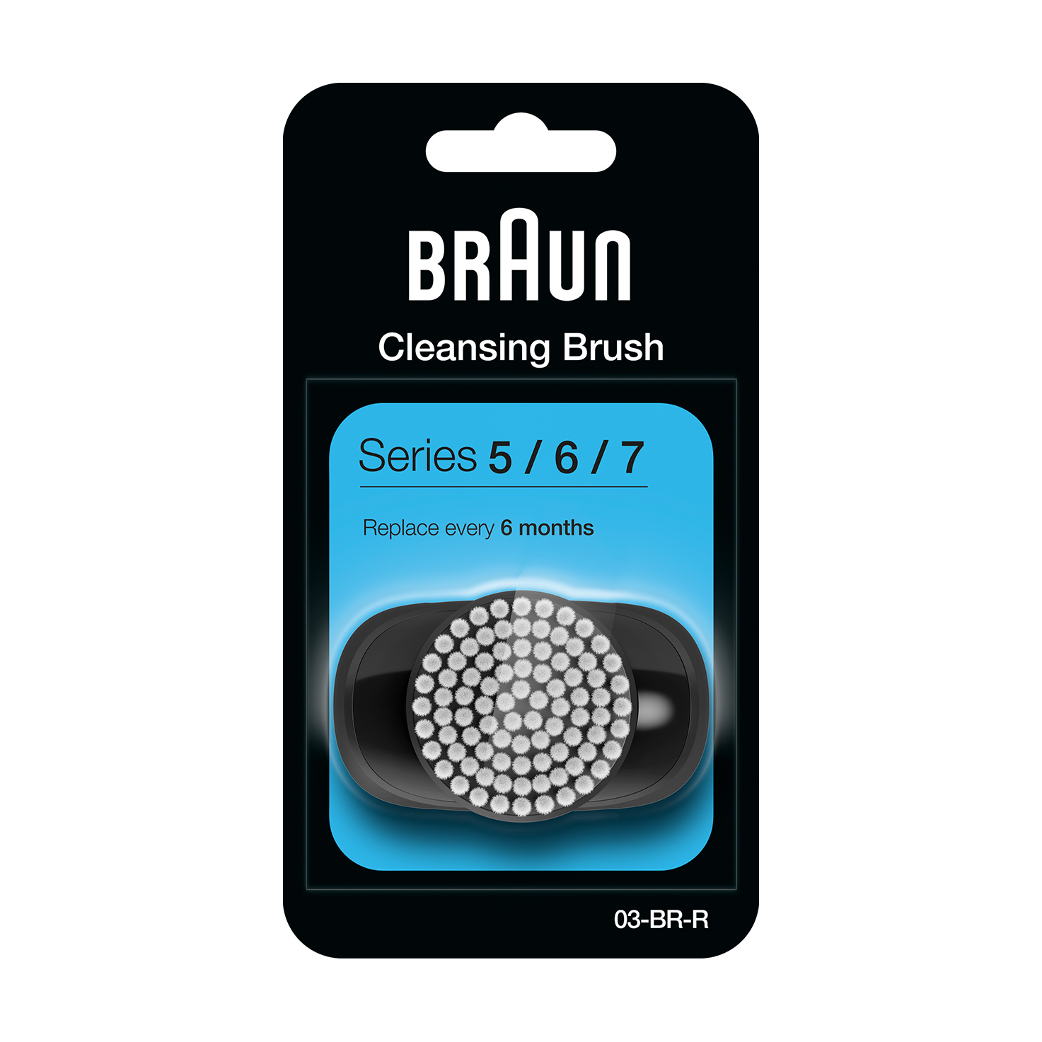 EasyClick Cleansing Brush refill for Braun Series 5, 6 and 7 electric shaver