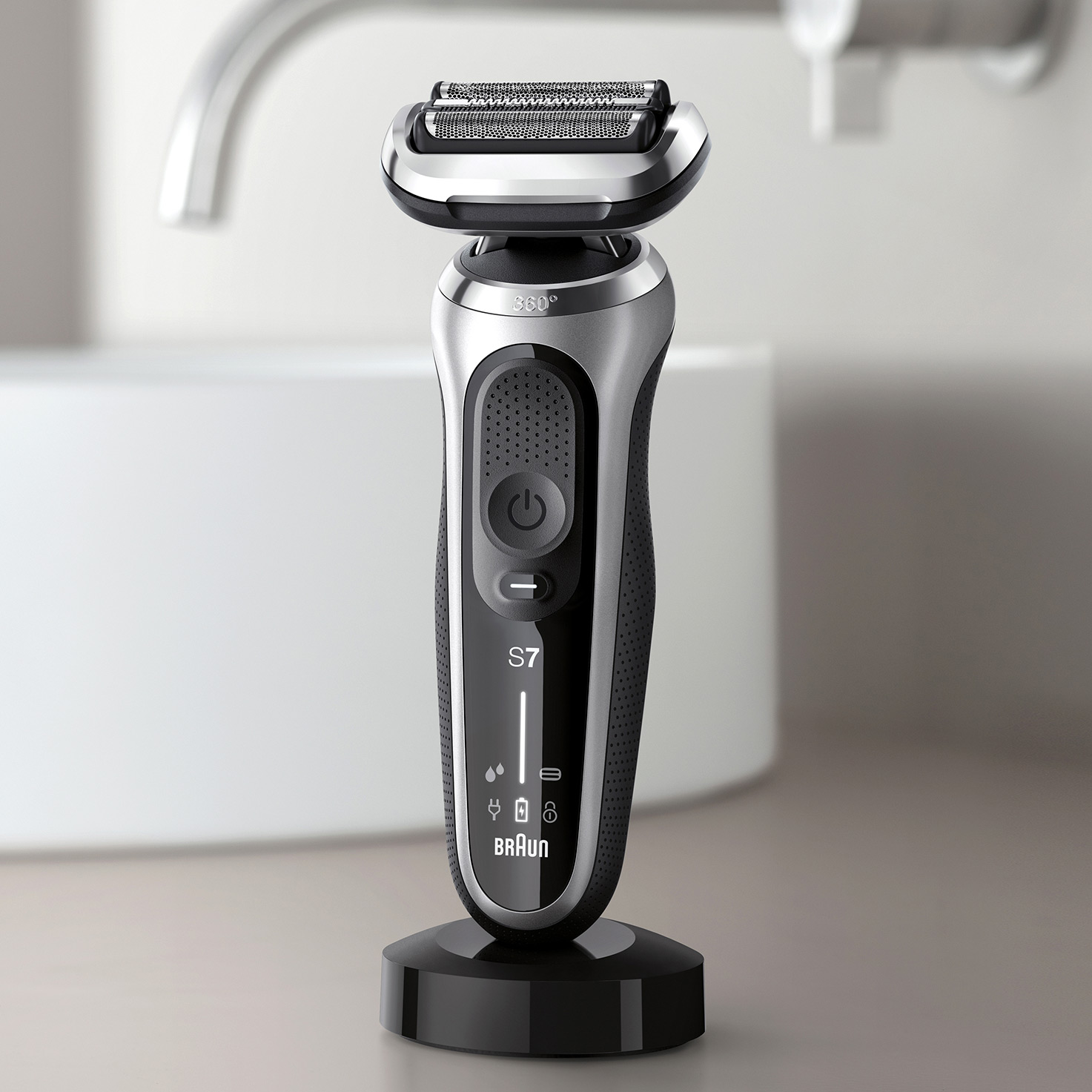 Charging Stand for Braun Series 5, 6 and 7 electric shaver (New generation)
