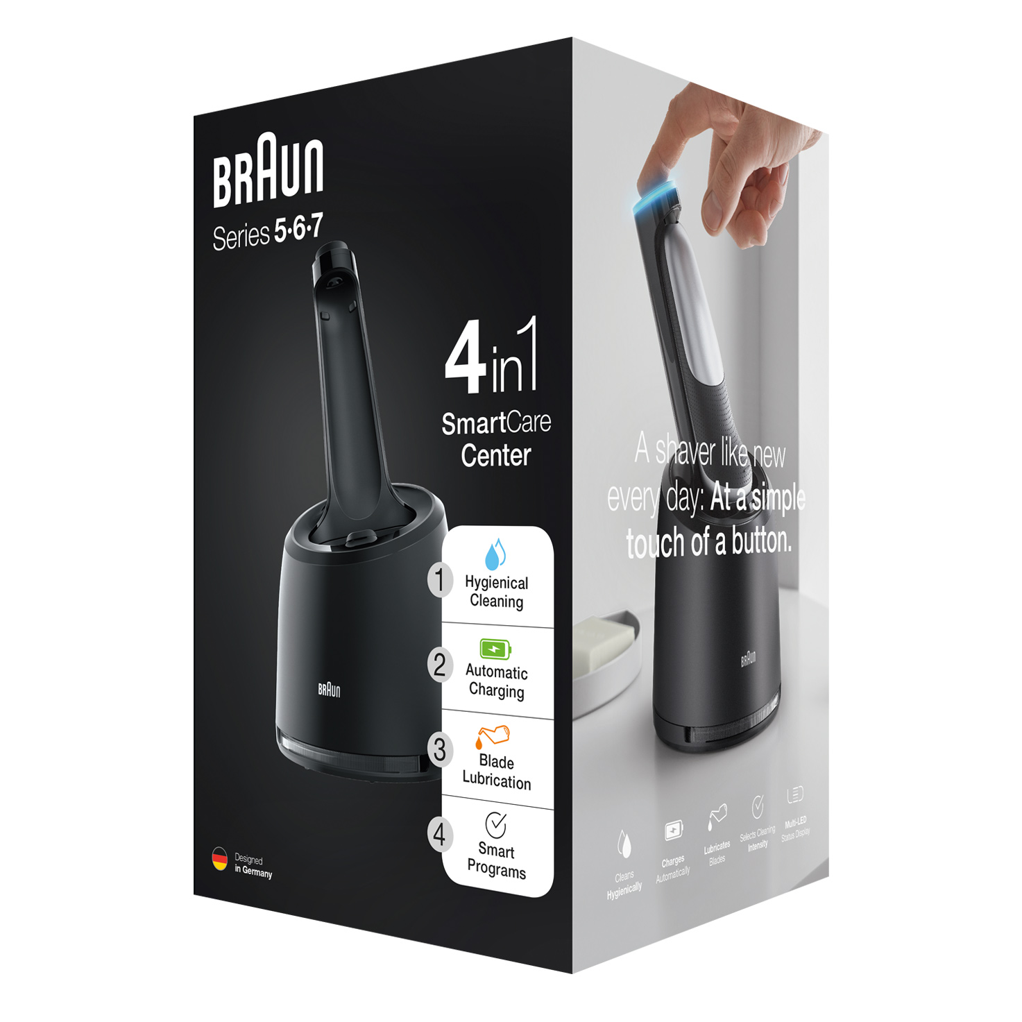 4 in 1 SmartCare Cleaning Center for Braun Series 5, 6 and 7 electric shaver (New generation)