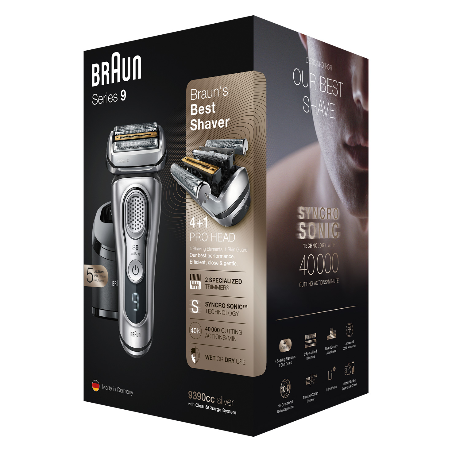 Series 9 9390cc shaver - Packaging