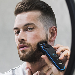 Comb and trim your beard  to 10 mm