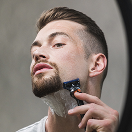 Clean shave your face to emphasise your Goatee