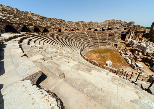 Amphitheater in Side, Side, Türkei