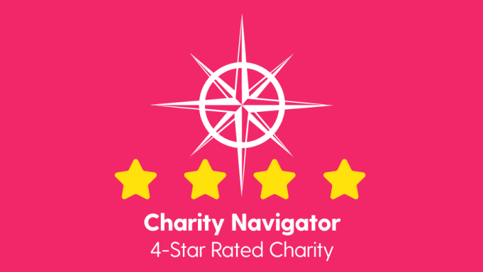 Charity Navigator 4-Star Rated Charity