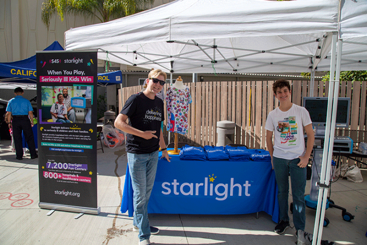 Starlight's booth at the health fair